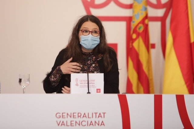 Archivo - Mónica Oltra compareix com a portaveu del Consell en una imatge d'arxiu