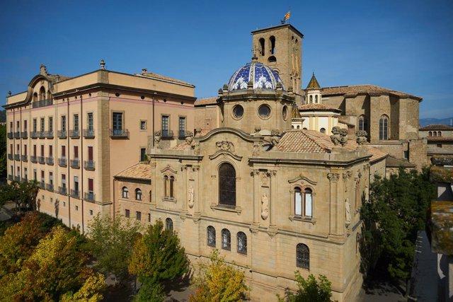 Arxiu - Vista general de la Catedral de Solsona (Lleida)