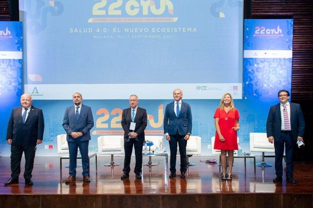 De izq. A der.: Jesús Aguirre Muñoz, Julio García Comesaña, Jose Soto, Enrique Ruíz Escudero, Patricia Gómez i Picard y José María Vergeles