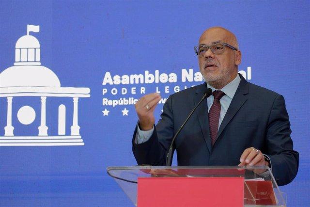 Archivo - El presidente de la Asamblea Nacional de Venezuela, Jorge Rodríguez