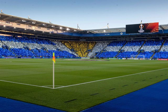 View down the ground during the Europa League match between Leicester City and Napoli at the King Power Stadium, Leicester, England on 16 September 2021. Photo John Mallett / ProSportsImages / DPPI