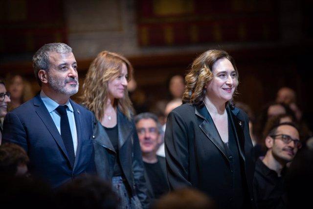 Archivo - Arxivo - L'alcaldessa de Barcelona, Ada Colau, i el primer tinent d'alcalde de Barcelona, Jaume Collboni, durant l'entrega dels Premis Ciutat de Barcelona, a Barcelona/Catalunya (Espanya) a 11 de febrer de 2020.