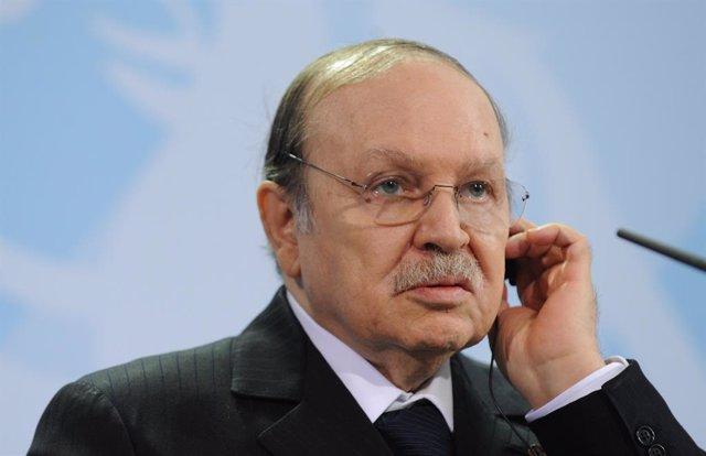 Archivo - El expresidente de Argelia Abdelaziz Buteflika