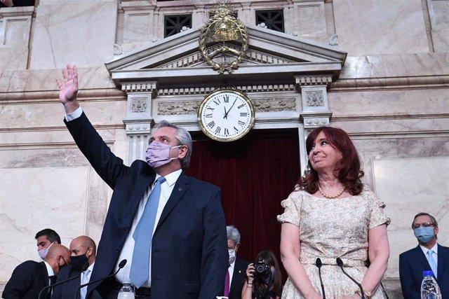 Archivo - El presidente de Argentina, Alberto Fernández, y la vicepresidenta, Cristina Fernández de Kirchner.