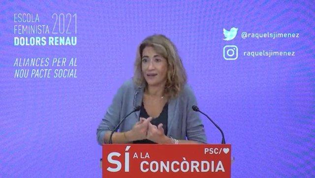 La ministra de Transports, Mobilitat i Agenda Urbana del Govern, Raquel Sánchez