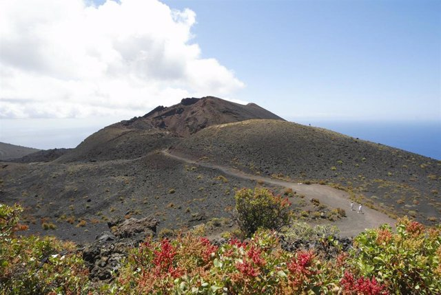 Archive - General view of one of the volcanoes of Cumbre Vieja, an area in the south of the island that could be affected by a possible volcanic eruption, on September 14, 2021, in Cumbre Vieja, La Palma, Canary Islands, (Spain) .  The Government of Canari