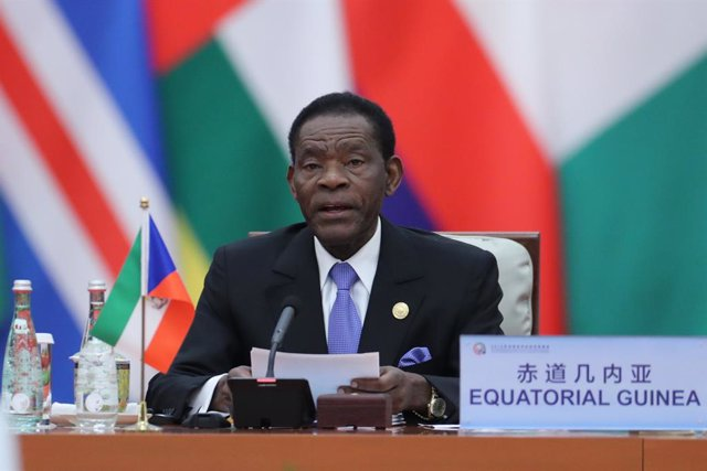 Archivo - El presidente de Guinea Ecuatorial, Teodoro Obiang