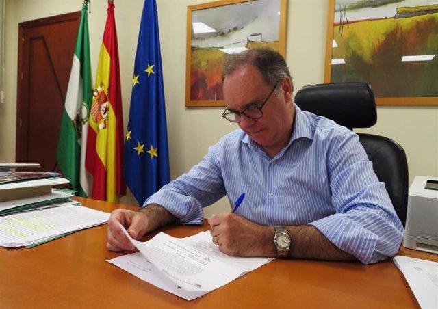 El delegado territorial de Empleo, Formación y Trabajo Autónomo de la Junta de Andalucía, Antonio Augustín.