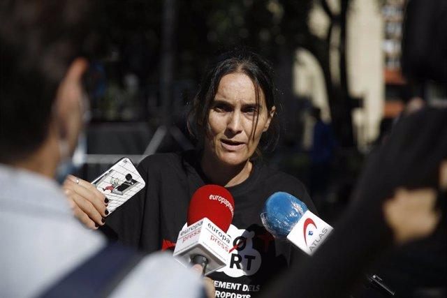 La portaveu de la plataforma Zeroport, Maria García
