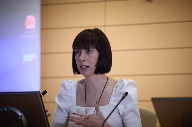 Archive - The Minister of Science and Innovation, Diana Morant, intervenes in the presentation of the 2021 call for the Science and Innovation Missions program of the Center for Technological and Industrial Development (CDTI), on July 26, 2021, in Madrid,
