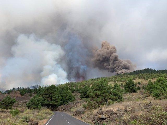 Erupción volcánica en la isla de La Palma