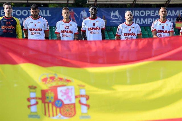 La selección española durante el Europeo de fútbol para amputados de Polonia de 2021