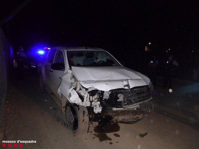 Vehicle que conduïa el detingut