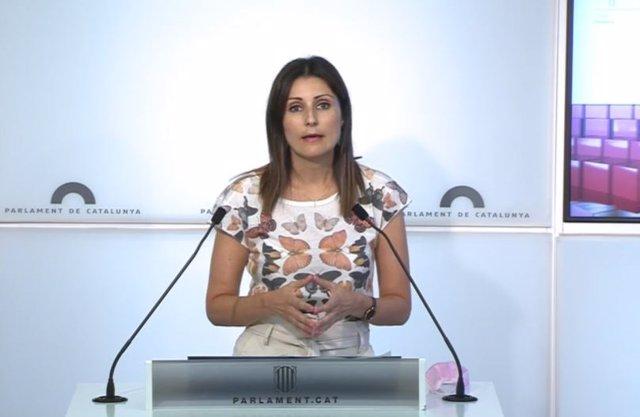 Arxiu - La diputada del PP al Parlament Lorena Roldán