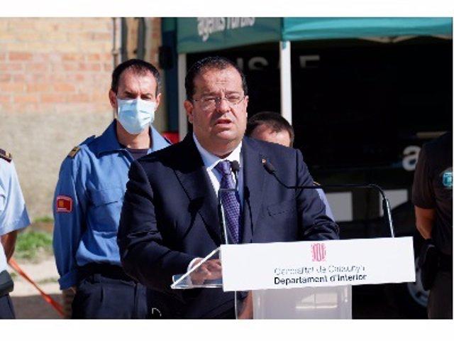 Arxiu - El conseller d'Interior de la Generalitat, Joan Ignasi Elena