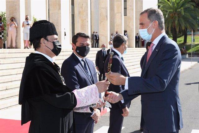 El Rey Felipe VI asiste a la inauguración del curos académico universitario en Córdoba