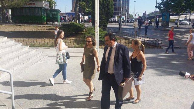 Archivo - Noelia de Mingo llega a los juzgados de Plaza de Castilla