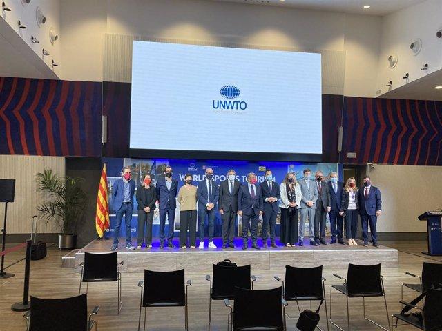 Conferència de premsa de presentació del primer Congrés Mundial de Turisme Esportiu