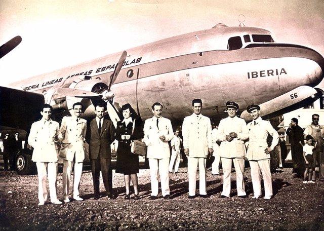 Primer vuelo de Iberia a Buenos Aires.