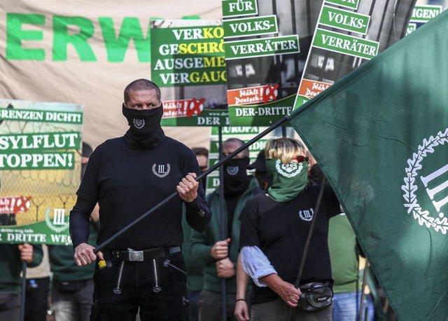 Concentración de la organización neonazi Der Dritte Weg (La Tercera Vía)