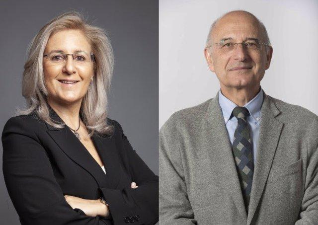 La presidenta de la Sociedad Española de Nefrología, Patricia de Sequera; y el presidente de la Sociedad Española de Cardiología, Ángel Cequier.