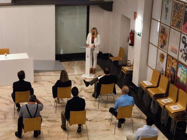 Maria Burrel en la jornada 'Los fondos Next Generation. Una oportunidad para Lleida'