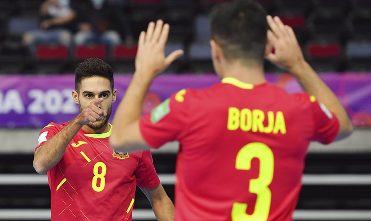 Spain dull passes Angola's process in the Futsal World Cup