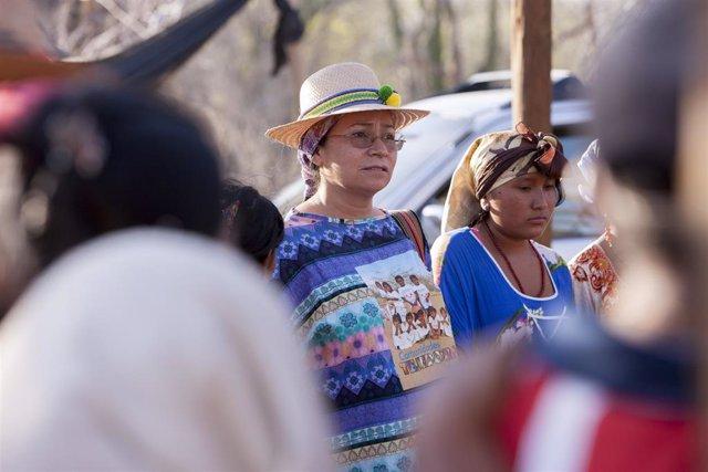 """Archivo - Los pueblos indígenas de Colombia se siguen enfrentando hoy en día a los mismos retos que """"hace más de 500 años"""" y que son resultado de la exclusión y la desigualdad imperante en el país, sostiene Ruth Chaparro, subdirectora de la Fundación Cami"""