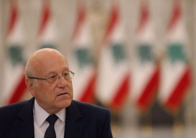 Archivo - El primer ministro de Líbano, Nayib Mikati