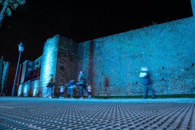 El jefe del Ejecutivo autonómico, Emiliano García-Page, ha inaugurado la iluminación artística de la muralla de Talavera