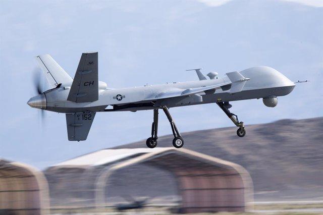 Un drone MQ-9 Reaper de la Fuerza Aérea estadounidense