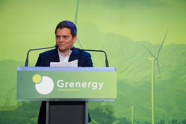 Archivo - David Ruiz de Andrés, fundador y consejero delegado de Grenergy, en la Bolsa de Madrid