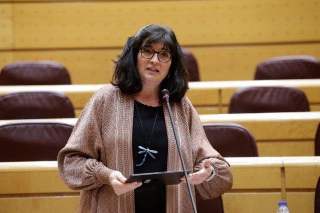 Archivo - La senadora de Adelante Andalucía, Pilar González