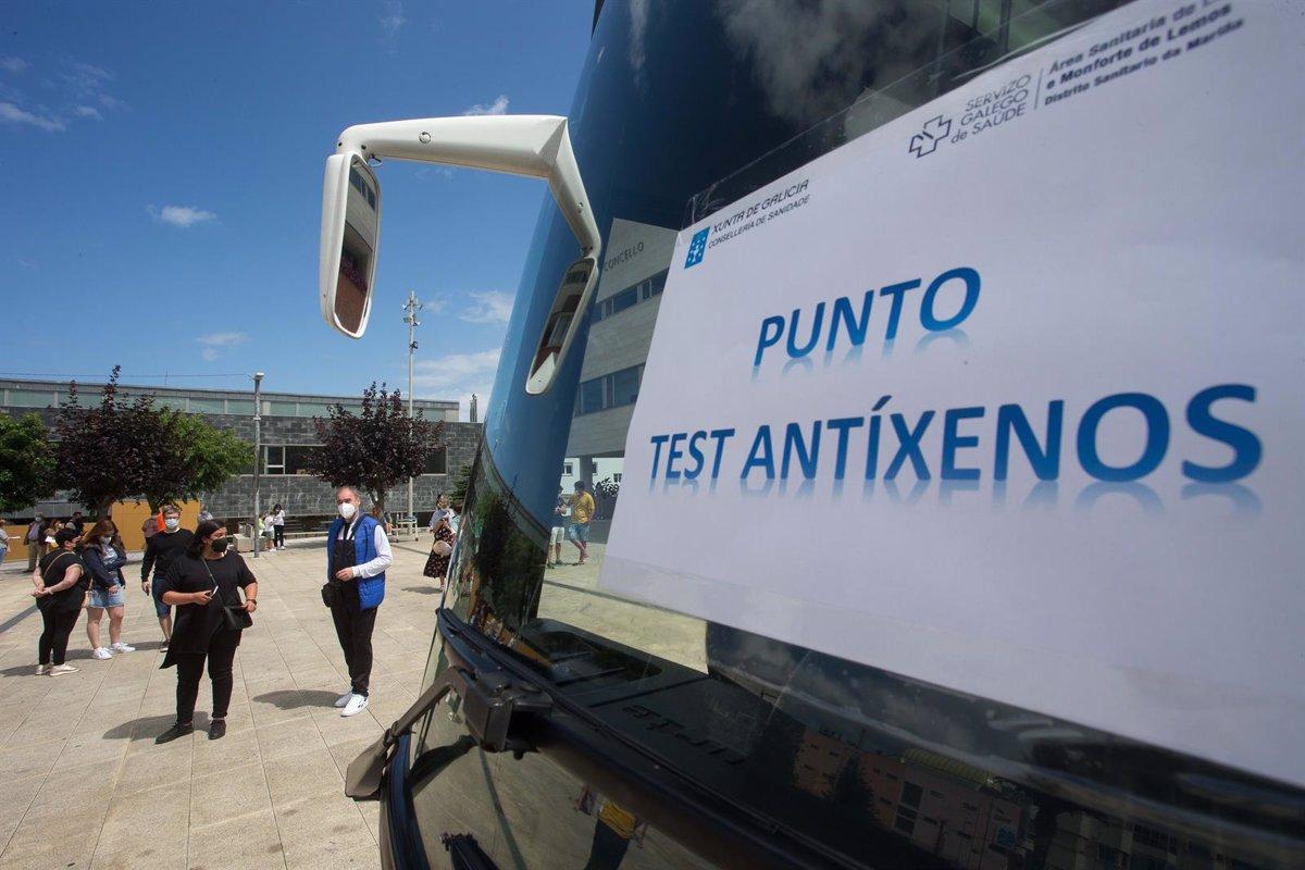 Los casos activos de Covid-19 bajan de los 2.000 en Galicia y los nuevos contagios caen a 48