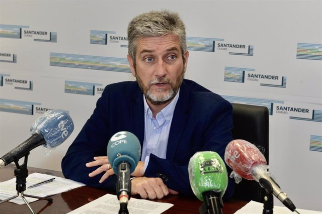 El portavoz de Cs en el Ayuntamiento de Santander,, Javier Cerut, en una foto de archivo