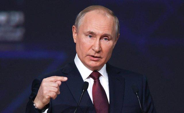 Archivo - El presidente de Rusia, Vladimir Putin