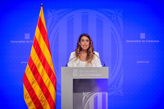 La portaveu del Govern, Patrícia Plaja, en la roda de premsa després del Consell Executiu