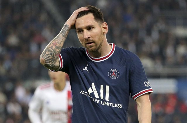 Lionel Messi of PSG during the French championship Ligue 1 football match between Paris Saint-Germain (PSG) and Olympique Lyonnais on September 19, 2021 at Parc des Princes stadium in Paris, France - Photo Jean Catuffe / DPPI