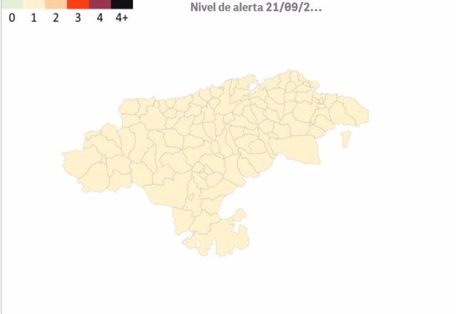 Archivo - Mapa del 'semáforo Covid'