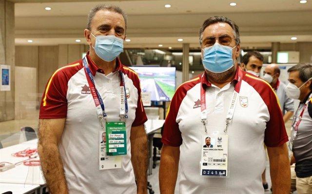 José Manuel Franco y Miguel Carballeda, presidentes del Consejo Superior de Deportes (CSD) y del Comité Paralímpico Español (CPE).