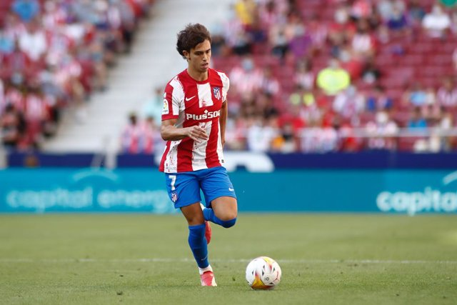 Joao Felix of Atletico de Madrid in action during the spanish league, La Liga Santander, football match played between Atletico de Madrid and Athletic Club at Wanda Metropolitano stadium on September 18, 2021, in Madrid, Spain.