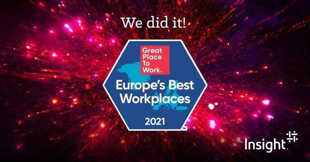 Insight EMEA clasificada como uno de los Best Workplaces in Europe
