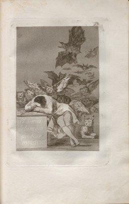 Grabado de 'Los Caprichos' de Goya
