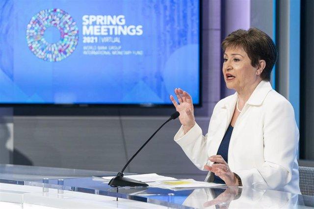 Archivo - La directora gerente del FMI, Kristalina Georgieva.