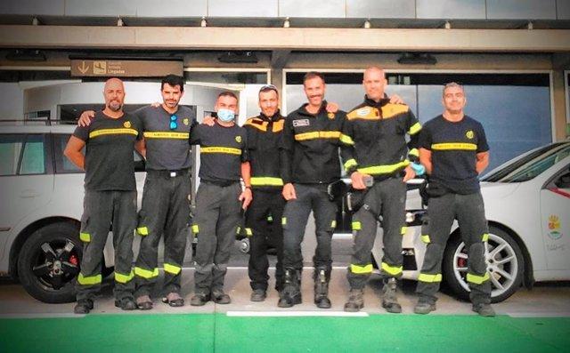 Nou contingent de bombers de Gran Canària