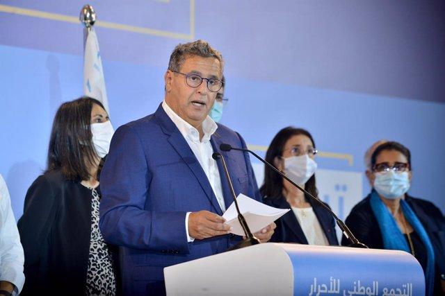 El primer ministro designado de Marruecos, Aziz Ajanuch, líder de la Agrupación Nacional de Independientes (RNI)