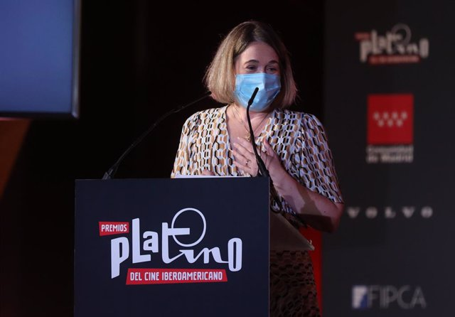 Archivo - La consejera de Cultura y Turismo de la Comunidad de Madrid, Marta Rivera de la Cruz, interviene en la presentación de los nominados de la VIII Edición de Premios PLATINO del Cine y el Audiovisual Iberoamericano, en CentroCentro, a 19 de julio d