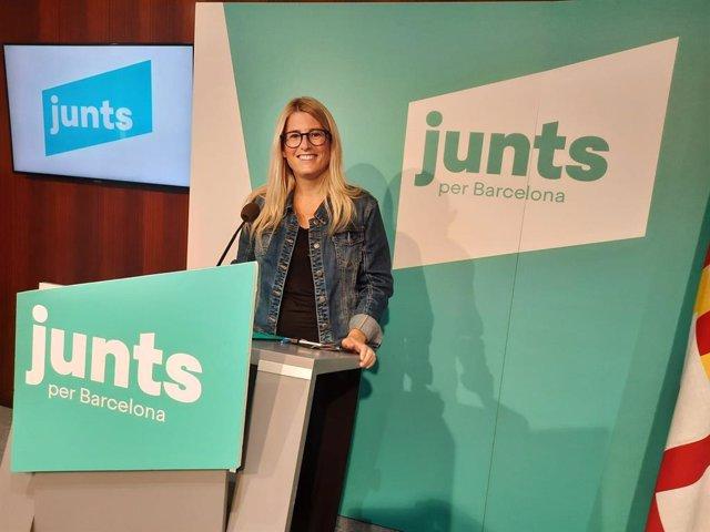 La líder del grup municipal de Junts a Barcelona, Elsa Artadi