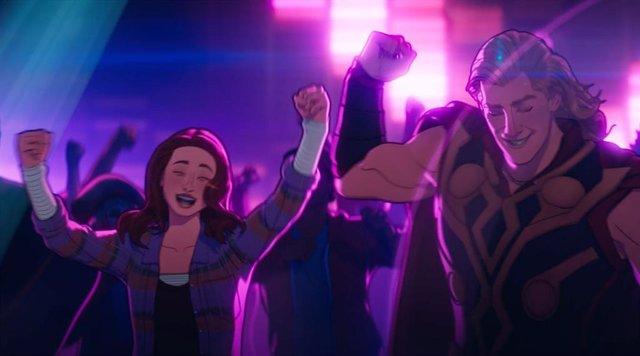 What If: ¿Ponen voz Chris Hemsworth y Natalie portman a Thor fiestero y Jane Foster en el episodio 1x07?