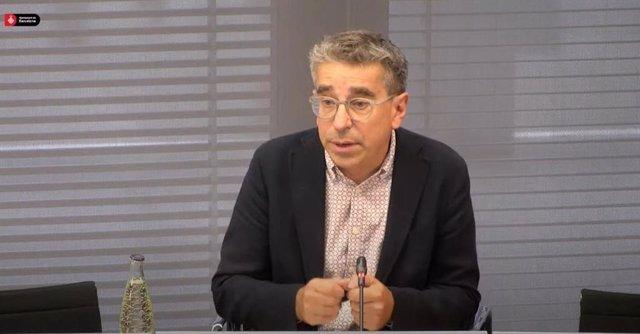 El tinent de Cultura de Barcelona i regidor de Presidència, Jordi Martí, en la conferència de premsa